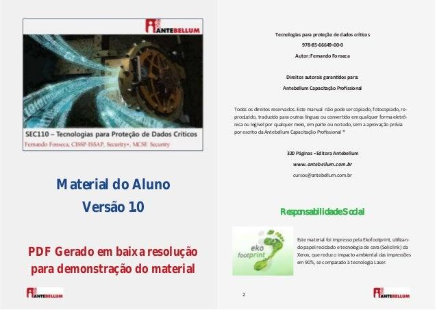 Material do Aluno Versão 1.0 PDF Gerado em baixa resolução para demonstração do material 2 Este material foi impresso pela...