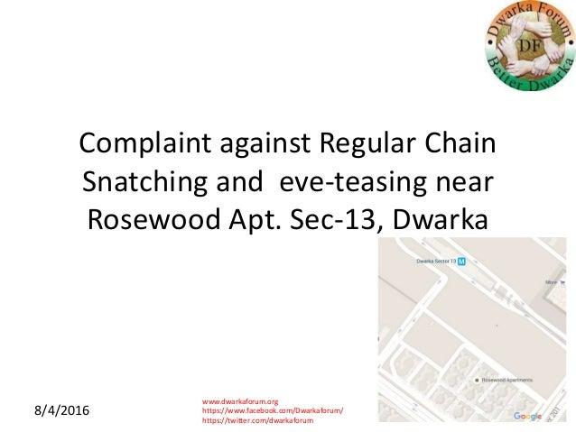 www.dwarkaforum.org https://www.facebook.com/Dwarkaforum/ https://twitter.com/dwarkaforum 8/4/2016 Complaint against Regul...