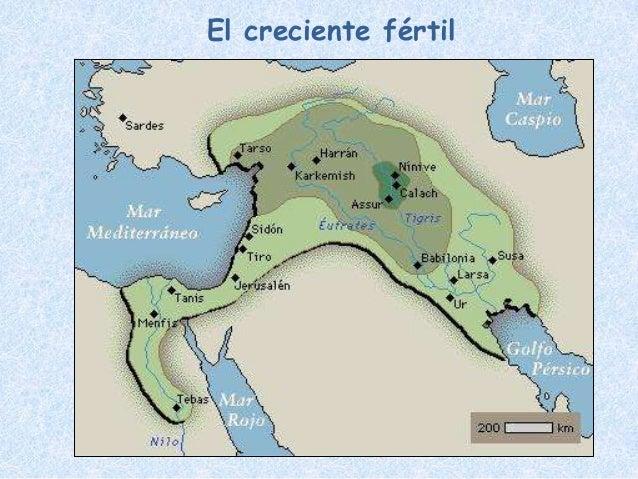 Mapa De Oriente Medio El Creciente Fertil.Introducion