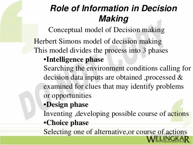 technology and decision making The international journal of information technology & decision making was  founded in 2002 and is published by world scientific it is a peer-reviewed  scientific.