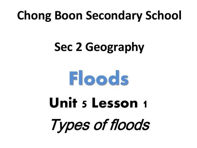 Sec 2 geography unit 5 lesson 1