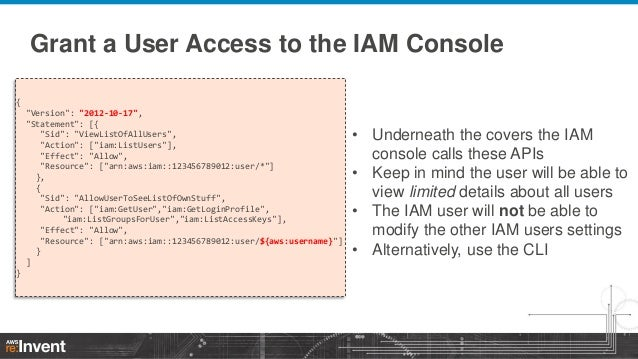 Mastering Access Control Policies (SEC302) | AWS re:Invent 2013