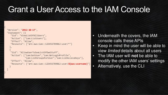 SEC303) Mastering Access Control Policies | AWS re:Invent 2014