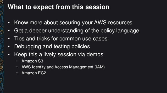 (SEC305) How to Become an IAM Policy Ninja in 60 Minutes or Less Slide 2