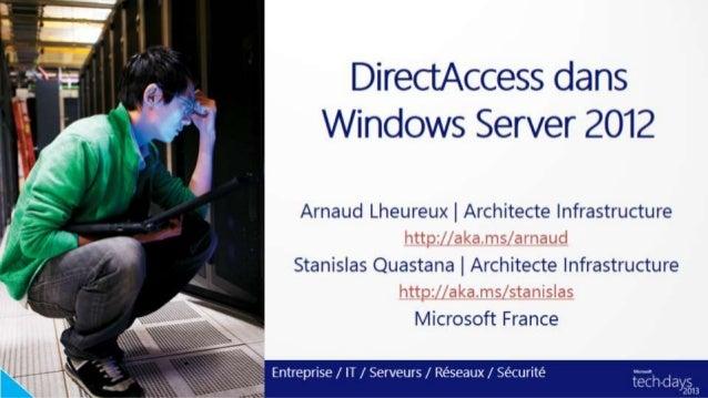 DirectAccess avec Windows Server 2012 et Windows 8