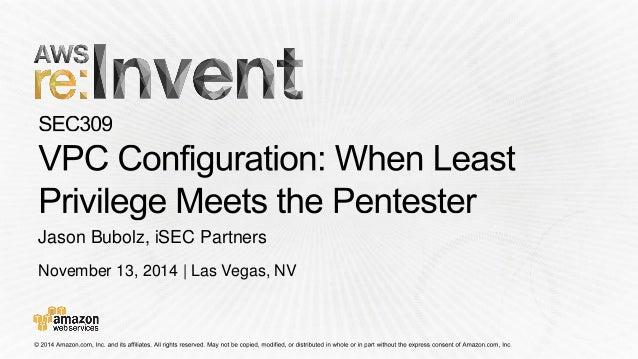 November 13, 2014 | Las Vegas, NV  Jason Bubolz, iSECPartners