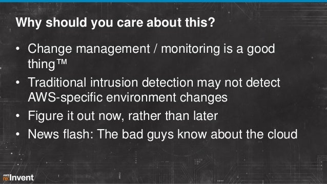 Intrusion Detection in the Cloud (SEC402)   AWS re:Invent 2013 Slide 2