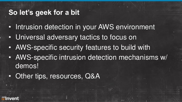 Intrusion Detection in the Cloud (SEC402)   AWS re:Invent 2013 Slide 3
