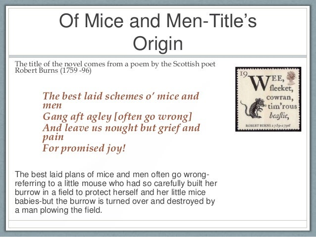 techniques in of mice and men Learning and using literary terms through examining their usage in steinbeck's of mice and men.