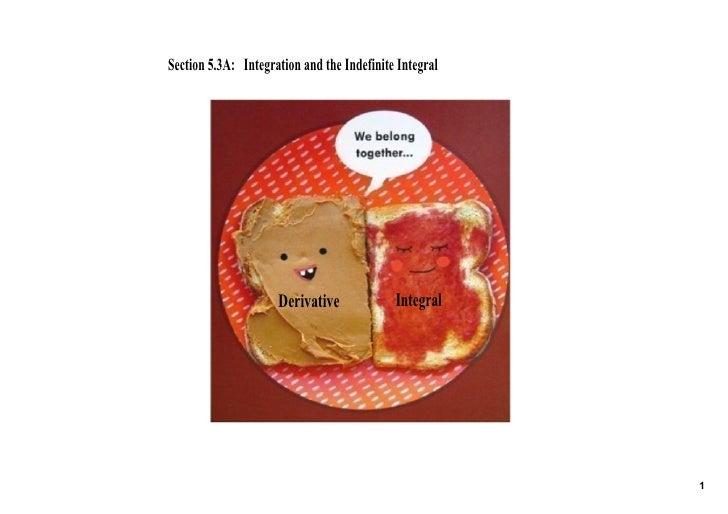 Section5.3A:IntegrationandtheIndefiniteIntegral                           Derivative              Integral        ...