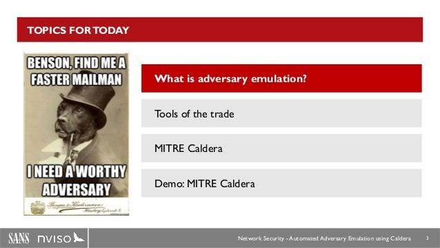 Adversary Emulation using CALDERA Slide 3