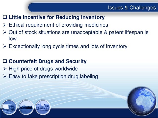 Issues & Challenges Little Incentive for Reducing Inventory Ethical requirement of providing medicines Out of stock sit...