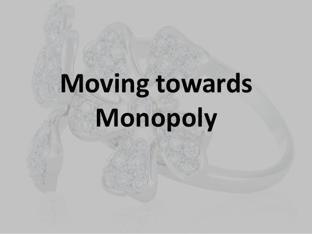de beers monopoly Microeconomics july 29, 2013 research paper on monopoly de beers monopoly a monopoly is a market structure in which the number of sellers is so small that each seller is able to influence the total supply and the piece of the good or service.