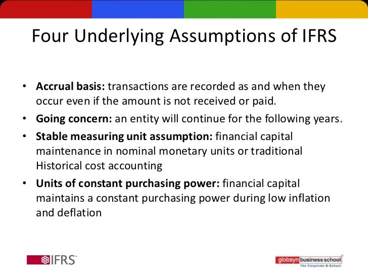 ifrs authorized basic accounting models underlying assumptions International financial reporting standards international financial reporting standards,  accounting): authorized by ifrs but  accounting models.