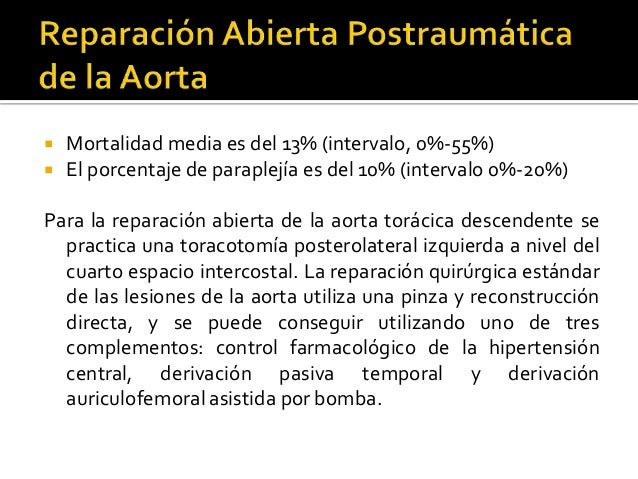 Secci n traum tica de la aorta for Cuarto espacio intercostal