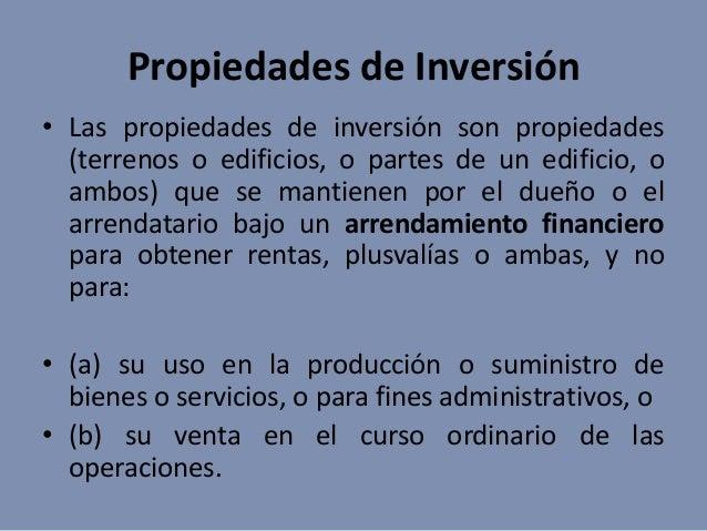Propiedades de inversi n for Inmobiliaria definicion