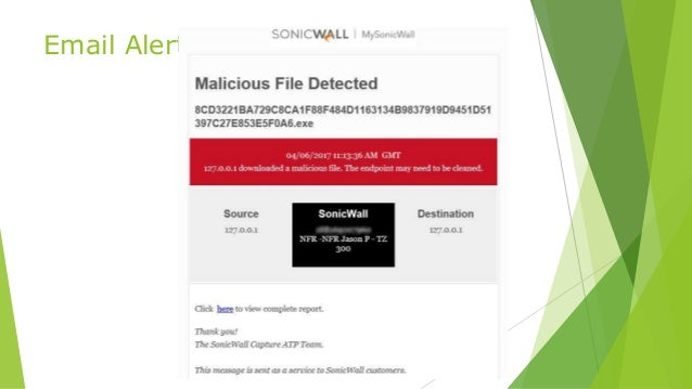 SonicWALL Advanced Features