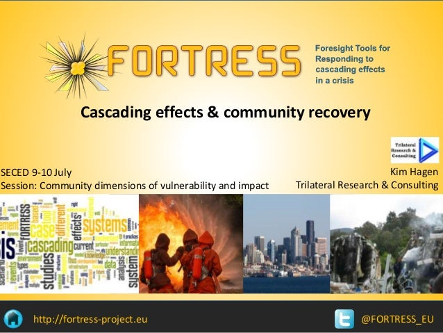 @FORTRESS_EUhttp://fortress-project.eu Cascading effects & community recovery SECED 9-10 July Session: Community dimension...