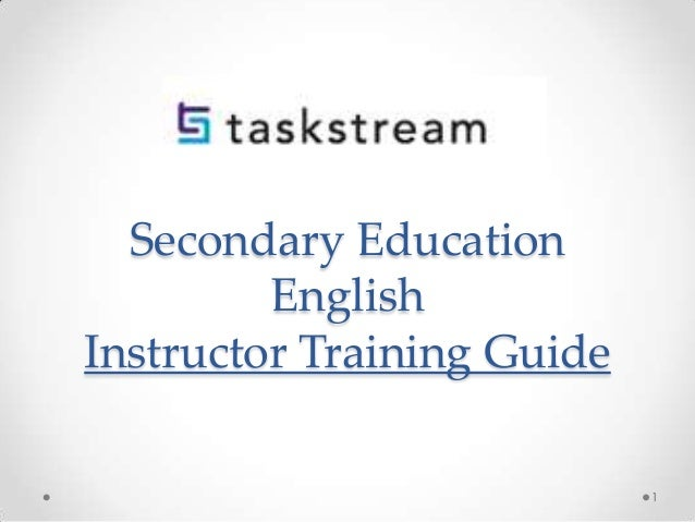 Secondary Education English Instructor Training Guide 1
