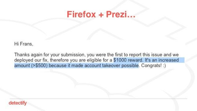 detectify Firefox + Prezi…