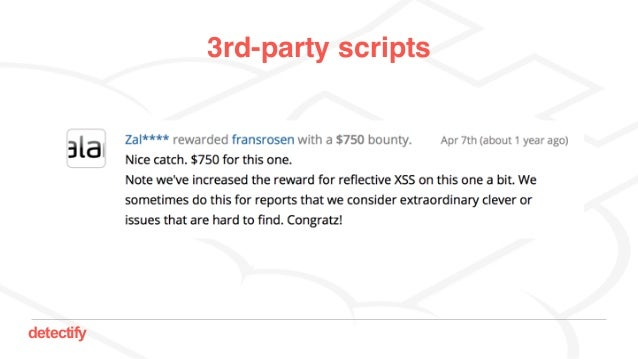 detectify 3rd-party scripts