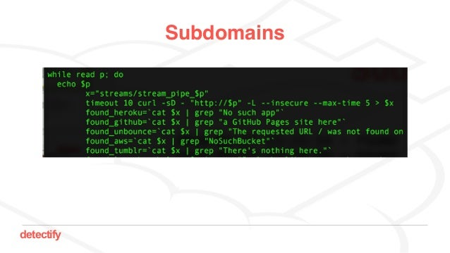 detectify Subdomains