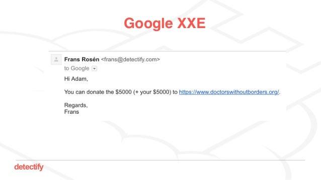 detectify Google XXE
