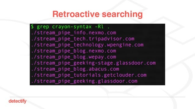 detectify Retroactive searching