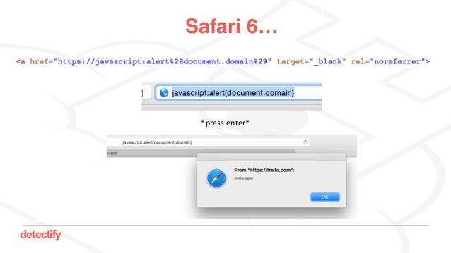 detectify Safari 6… *pressenter*