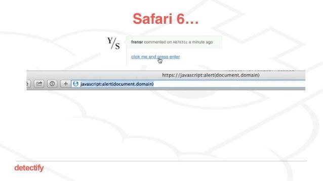 detectify Safari 6…