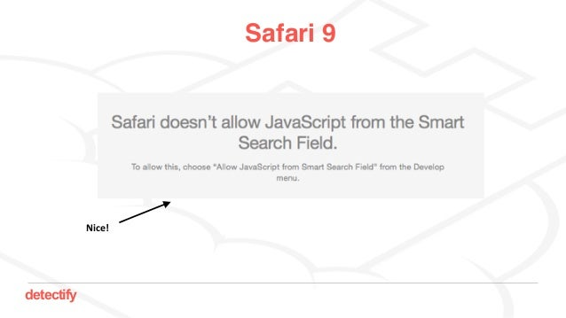detectify Safari 9 Nice!