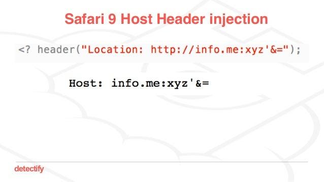 detectify Safari 9 Host Header injection