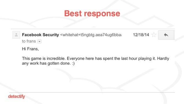 detectify Best response