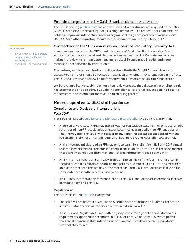 SEC in Focus (EY Publication)