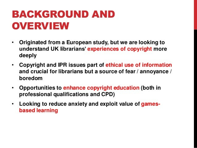 Copyright literacy in the uk understanding library and for Copyright facts and information