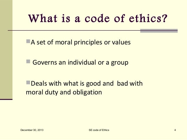 three fundamental tenets of a code of ethics 08 cima code of ethics for professional accountants section 100l introduction and fundamental principles 1001 a distinguishing mark of the accountancy profession.