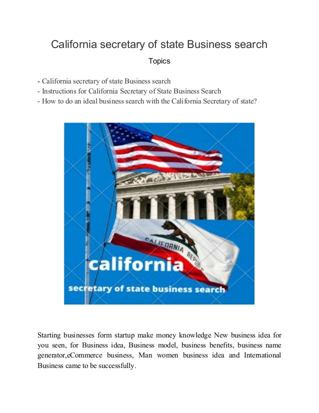 California secretary of state Business search Topics - California secretary of state Business search - Instructions for C...