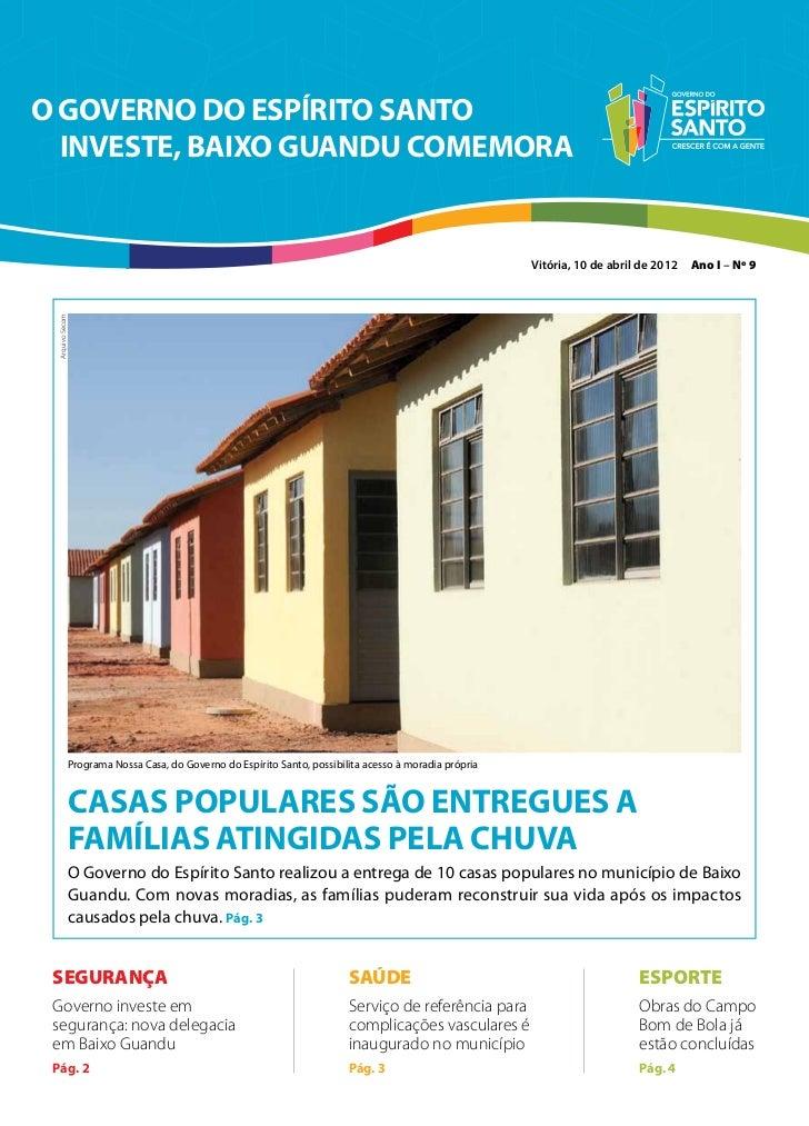 O GOVERNO DO ESPÍRITO SANTO  INVESTE, BAIXO GUANDU COMEMORA                                                               ...