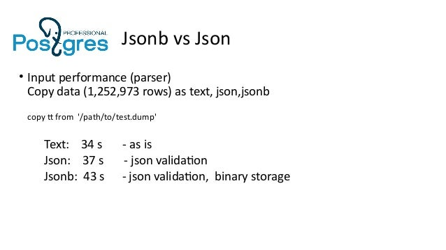 search first array element 40 jsonb vs json