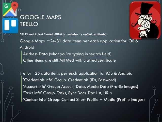 GOOGLE MAPS TRELLO Google Maps: ~24-31 data items per each application for iOS & Android Address Data (what you're typing ...