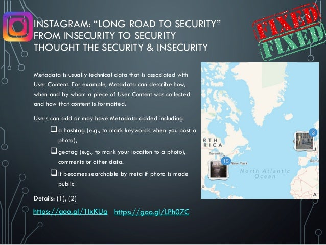 """INSTAGRAM: """"LONG ROAD TO SECURITY"""" FROM INSECURITY TO SECURITY THOUGHT THE SECURITY & INSECURITY Metadata is usually techn..."""