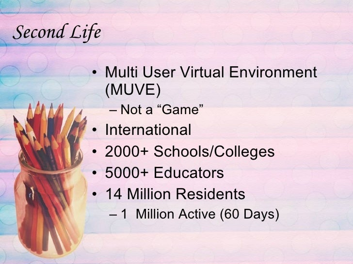 life in second college is unforgettable Chamberlain college of nursing | virtual learning environments | second life step 1 welcome welcome to the chamberlain college of nursing's educational use of.