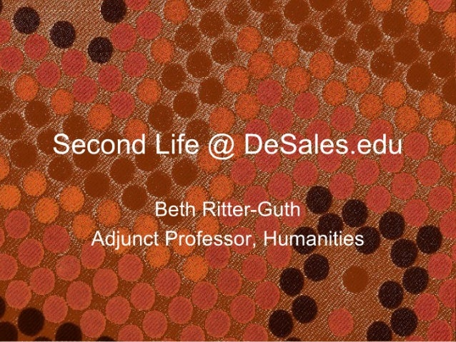 Second Life at DeSales University