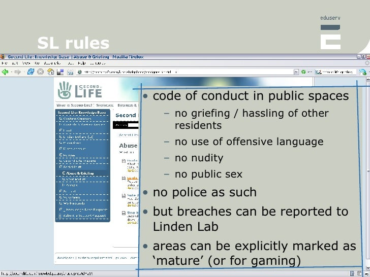 Second life sex codes