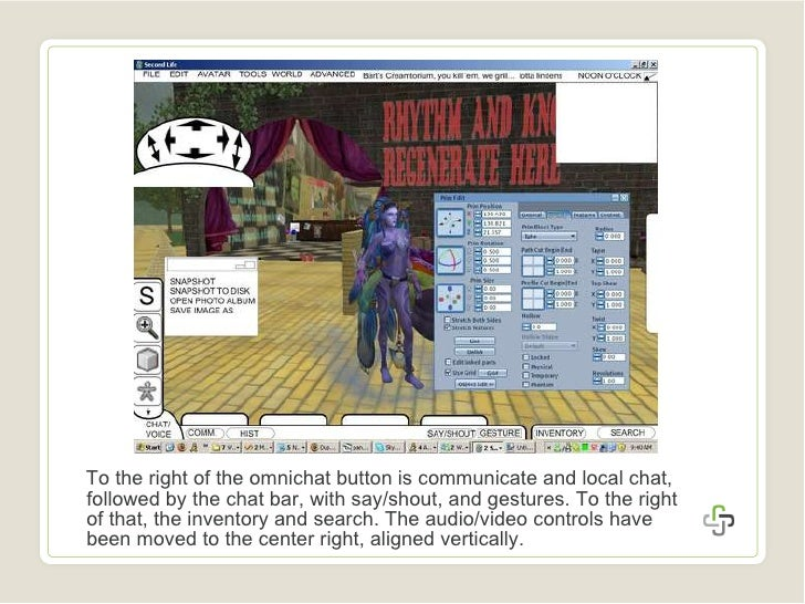 <ul><li>To the right of the omnichat button is communicate and local chat, followed by the chat bar, with say/shout, and g...