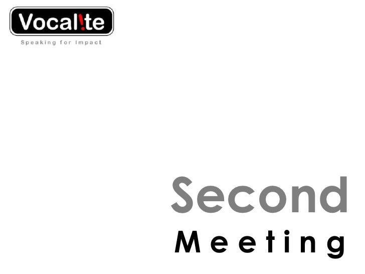 Second Meeting