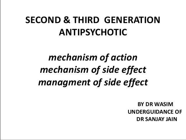 Sedating anti psychotics mechanism