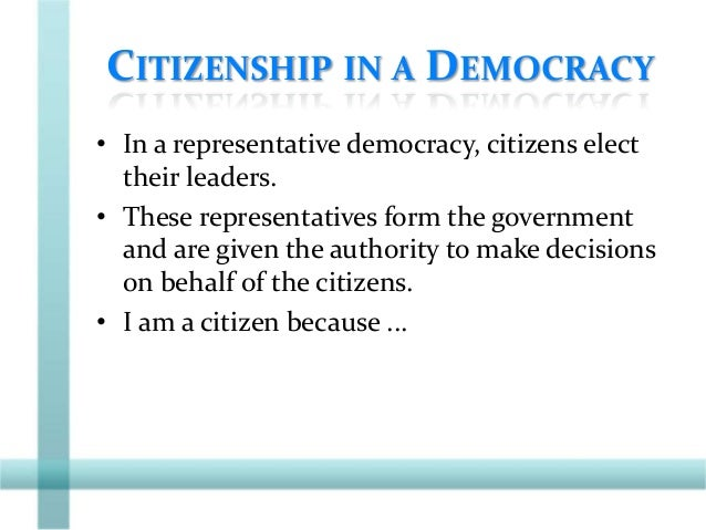CITIZENSHIP SHAPED BY IDENTITY • Sense of identity: – A shared belief that we belong to the same country. – Examples?