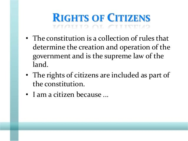 CITIZENSHIP SHAPED BY PARTICIPATION • Participation – Common practices such as ...