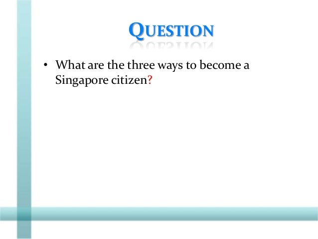 BY THE END OF THE LESSON We will be able to, • List the three attributes of citizenship. • Describe how citizenship can be...